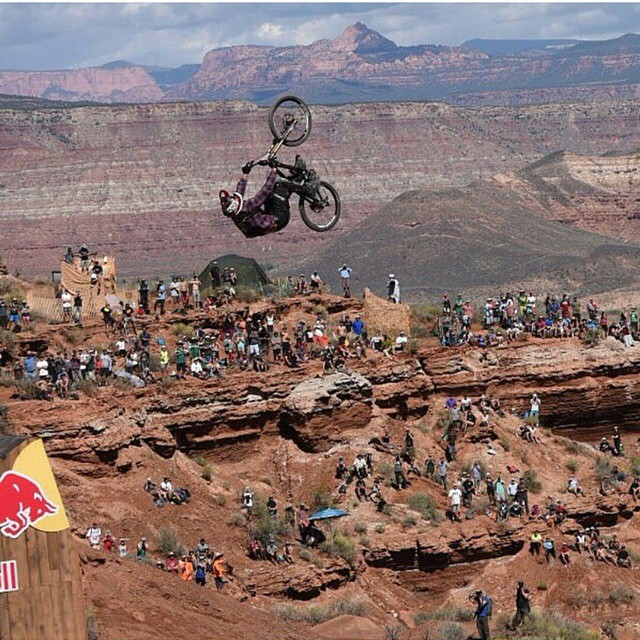 Regram: @jeffherb we can't get enough of Jeff`s huge back flip over the 76 foot canyon gap!  Photo credit @litpro