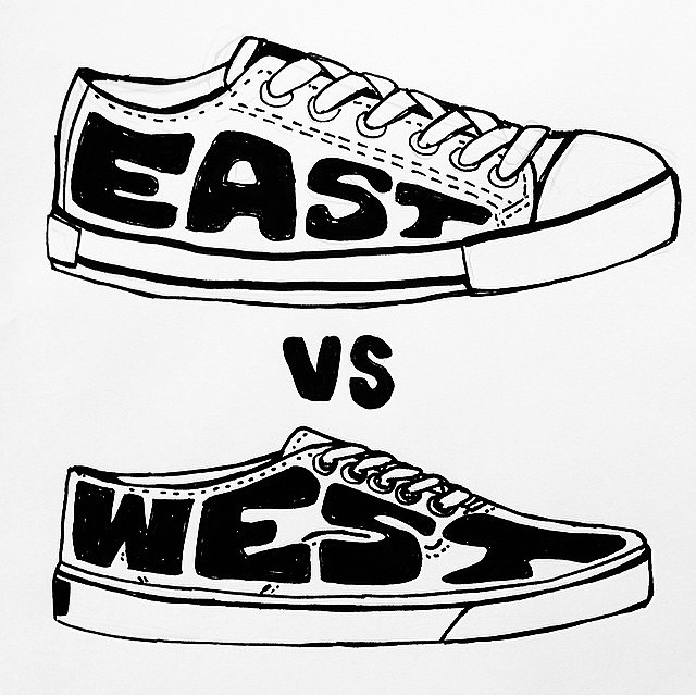 Coastal sneaker showdown by @terminalradness #allswell