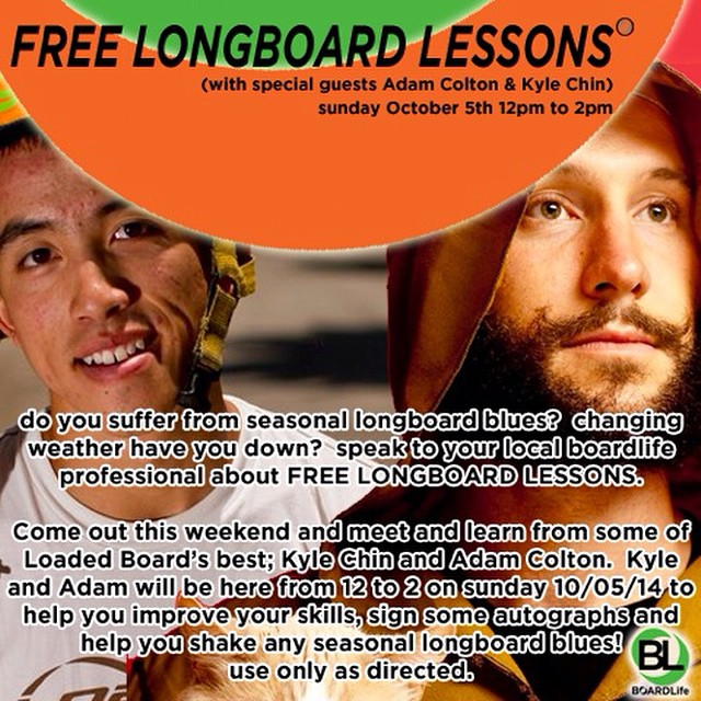 If your in the Denver, CO area stop by @boardlifeusa Sunday Oct. 5 for FREE longboard lessons and chillin with these cool cats. 2000 W. 30th Ave. Denver, CO 80211