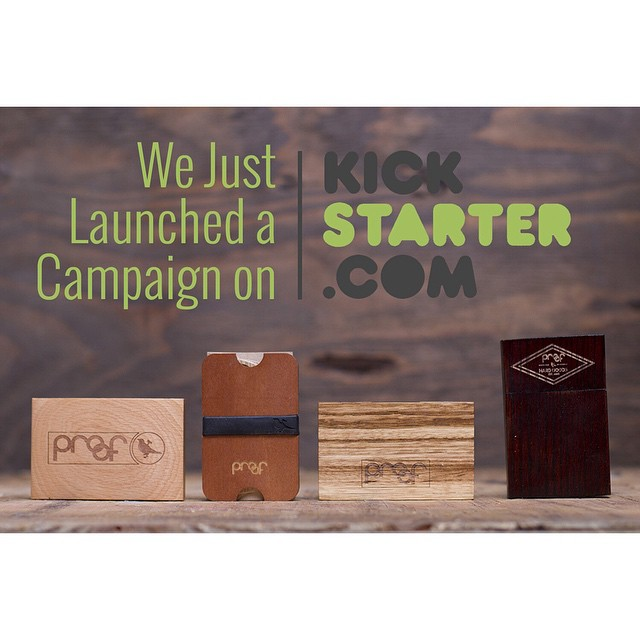 JUST LAUNCHED!  Check out our Wood Minimalist Wallet Kickstarter Project online now, link in description!