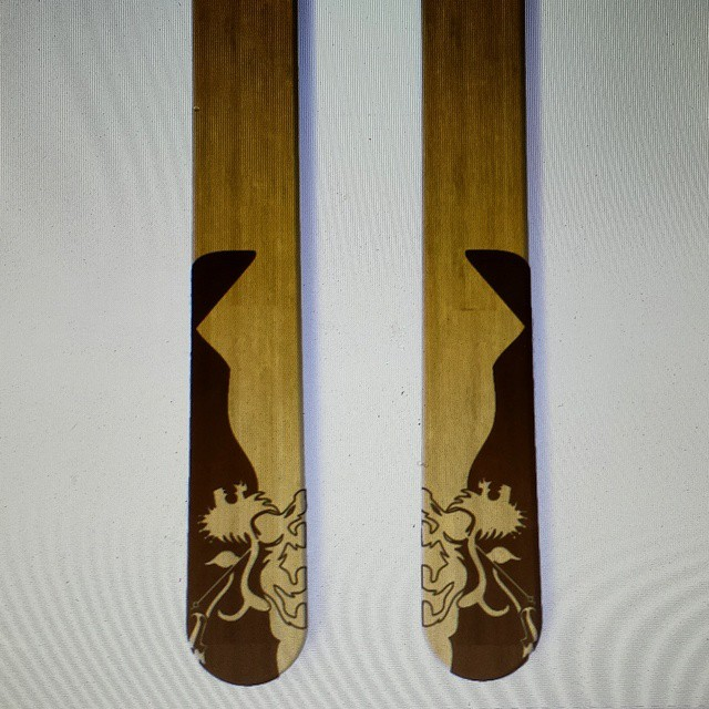 #crestedbutte and Rasta Lion #customskis made in and for #colorado  Screen grab!