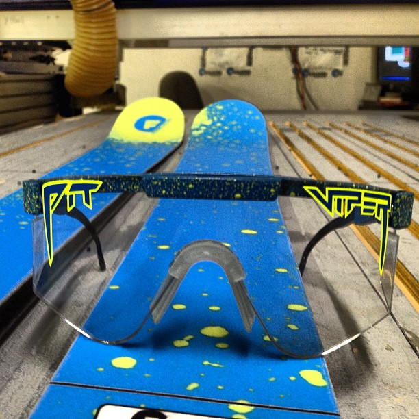 #pitviper night shades have a variety of uses, we use ours to keep us safe while manufacturing some of the sickest skis on the planet! #madeinamerica