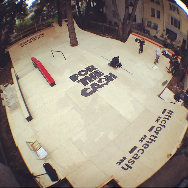 Our day job. Thank you @ftcsf for the opportunity to design and build another #FTCFORTHECASH course. Congratulations to @jackfardell for the win!  #irisskateboards #recycledskateboards #dontquityourdayjob
