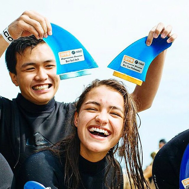 This is what Happy looks like.  This past weekend, the good people at @stokedorg came together with SPY's own @a_gray, @whitesunglasses and @patschmidt to transform the lives of low-income youth through surfing, and to get them smiling. We're stoked to...