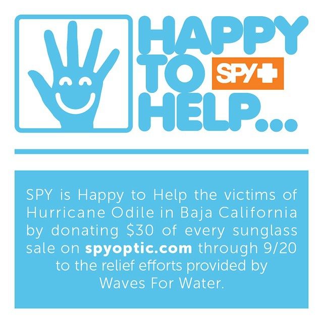 SPY is Happy to Help the victims of Hurricane #Odile in Baja California.  #HappyToHelp