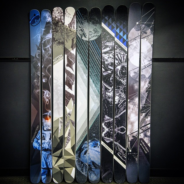 Throwback to ten minutes ago, the 14-15 big boi skis lookin diamonds! #Rayzr #AllMountain #Layzr  #CarbonPow #Chairman #kittenfactory #hotskis #hotriders #ricksdoindubs #nfz #jahbetos #tbt #diamonds #skis