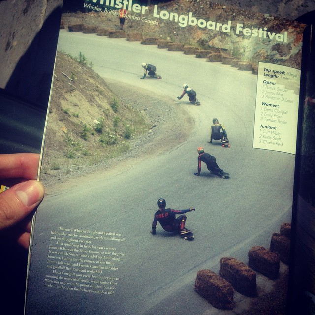 Picked up the newest @skateslate yet? Colorado local and team rider @1017creamher appears on multiple pages. From the altitude sickness tour, to whistler, way to hold it down Garrett!  @venombushings #roguetrucks #colorado #dblongboards #venom #rogue...