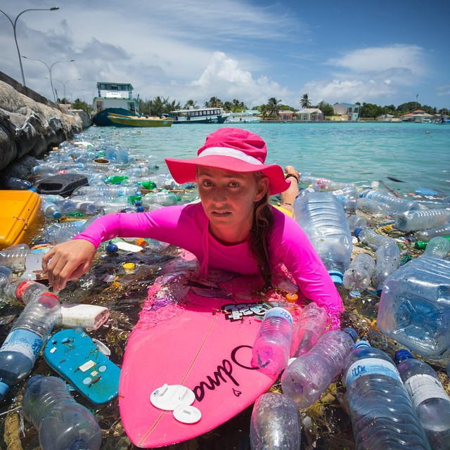 If you see unrecycled plastic bottles, take a pic and share it! Hashtag #BottleShame  I'm wearing items made from @Repreve fabric: @roxy board shorts = 6 Plastic Bottles @odinasurf Rash Guard = 25 Plastic Bottles @Patagonia hat;-) @lostsurfboards...