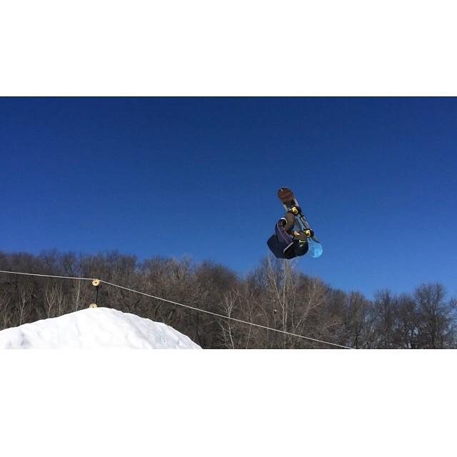 Team rider from #Minnesota @adamvick_❄️#frostyheadwear #snowboarding