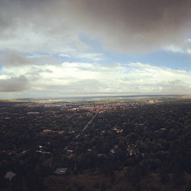 Top of a rocky cliff in #Boulder. #natural #beauty