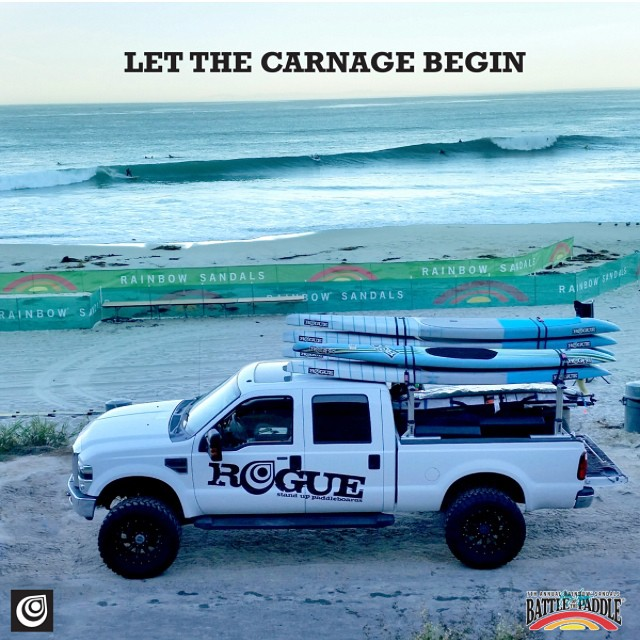 How many boards will be broken?? Camp Rogue is all set up for BOP 2014. Conditions at Salt Creek this morning were PUMPING well over head on set waves!!! Should be quite a battle tomorrow. DONT MISS OUT!! @rainbowsandals #BOP #2014 #saltcreek #battle...
