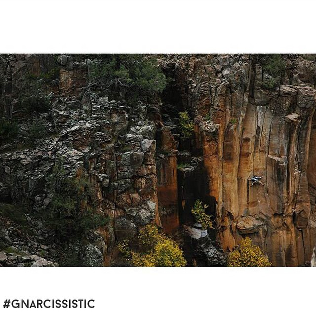 A climb shot from @mlauchert. This ones in Paradise Falls, AZ. Beautiful rock. Great shot.  #GNARCISSISTIC