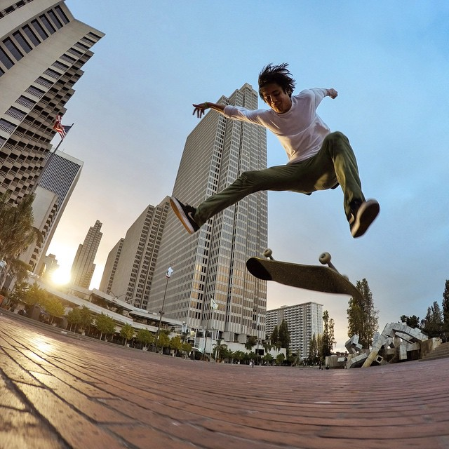 GoPro athlete @seanmalto in downtown San Francisco. #skate