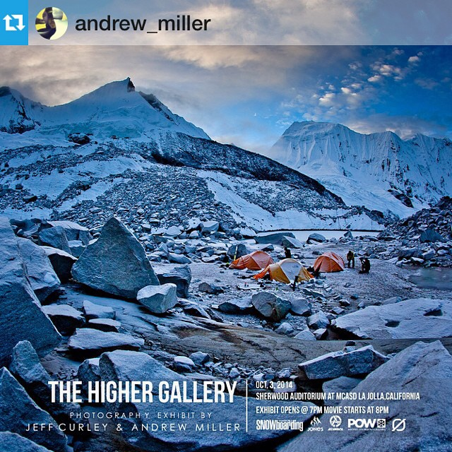 Sounds like the San Diego premier of Higher tonight is almost sold out. Some amazing photos to check out along with a stunning film. Go. #Repost from @andrew_miller --- This image of #theshangrilaexpedition in Nepal along with many more will be on...