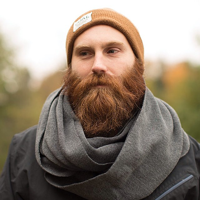 Don't have a beard? Grab a scarf. Have a beard? Grab a scarf anyways because sometimes #fineliving means bundling up.