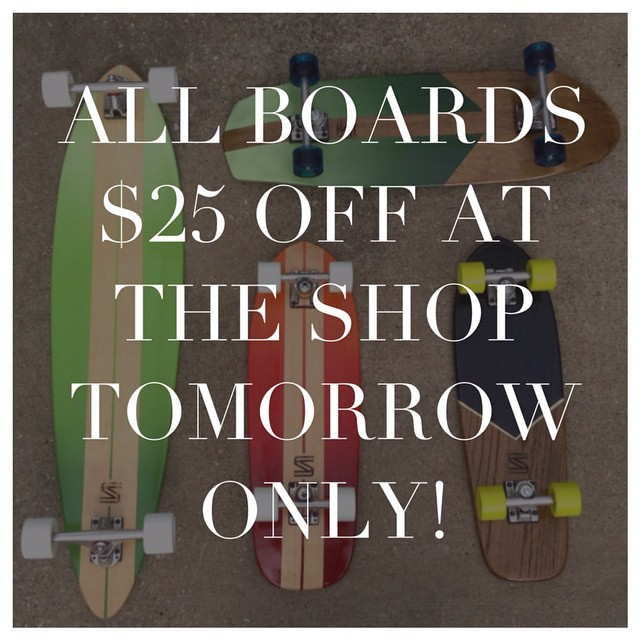 Come by tomorrow from 1-4 at 1423 2nd Ave N and get $25 off a board. #nashville
