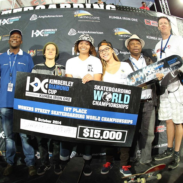 Props to Samarria Brevard for winning the Women's Street World Championships today at the @kimberleydiamondcup in South Africa! --- 1. Samarria Brevard 2. Alexis Sablone 3. Pamela Rosa 4. Lacey Baker 5. Rachel Reinhard 6. Alana Smith 7. Julia...