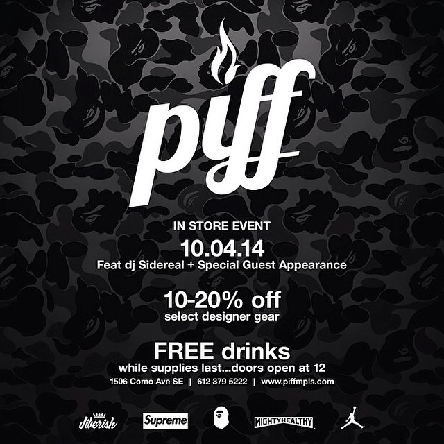 Stop by @PIFFmpls tomorrow featuring @djsidereal, free drinks to those that are 21+ and @FrostyHeadwear knitted hats that haven't been released yet will also be available for purchase! #MadeInMinnesota #PIFFmpls #FrostyHeadwear  1506 Como Ave...
