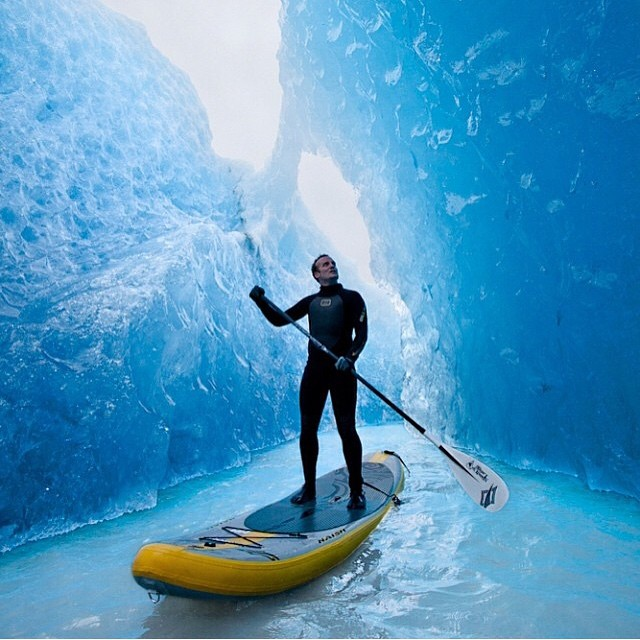 #LifesABeach | Paddle boarding between glaciers in Chile is Jorg Badura's beach, where's yours? #WheresYourBeach #Kameleonz #PaddleBoarding #ThisIsMyBeach #WinterIsMySummer #Glaciers #Chile #GoPro #GoProHaven #Nikon #Canon
