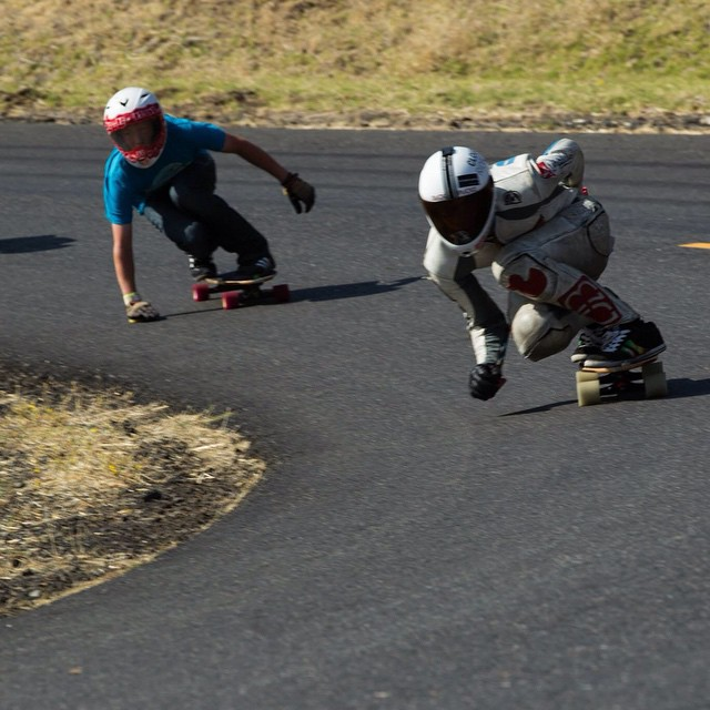 Team rider @snack_skates coming in hot around cowers at Maryhill at the fall freeride followed closely by @doce12_. Both of them are riding stalker v2's. Photo: @ryanlastname @ooakforge  @cloudridewheels @atlastruckco #prototype #cloudridewheels...