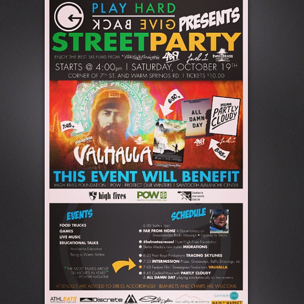 This Saturday Oct 19 #phgb will be throwing down a street party. Come kick it with some awesome people doing awesome things!!! @discreteclothing @mtnapproach @smithoptics