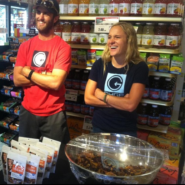Gettin after it! You gotta try Lexi's mix... Chocolate covered espresso beans? Yes please! @lexidupont