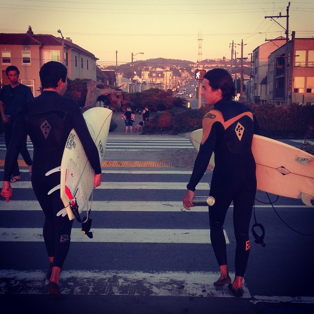 #SF weekends.  Even better with big swells. #oceanbeach #surfing // #sorryclosed #mafiahq