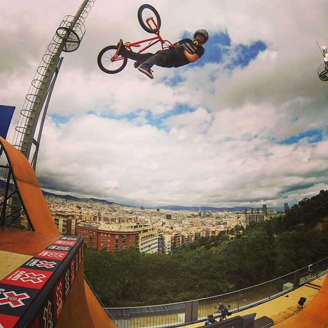 @stevemccann boosting in Barcelona! #xgames (Photo @gopro )
