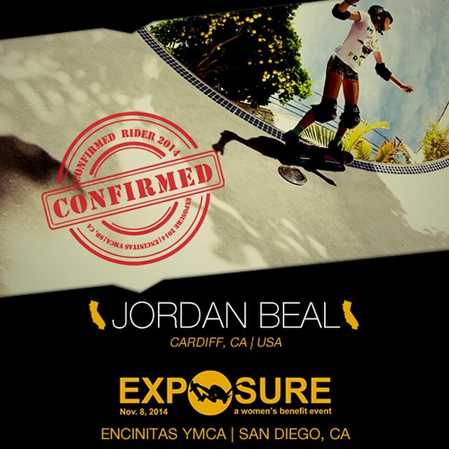 Confirmed for #EXPOSURE2014! --- Jordan BEAL @_jordan_beal_  Birthplace: San Diego, CA Hometown: Cardiff, CA Resides: Cardiff, CA Started Skating: 2012 Hobbies: Photography, Netflix --- Register now to compete at www.exposureskate.org/?page_id=1426