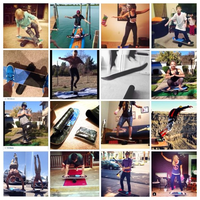 Thanks to everyone who has sent is a photo on their balance board! Here are a few we got over the past few months...you guys are awesome.  Keep them coming in, we want to get you up on our page :)