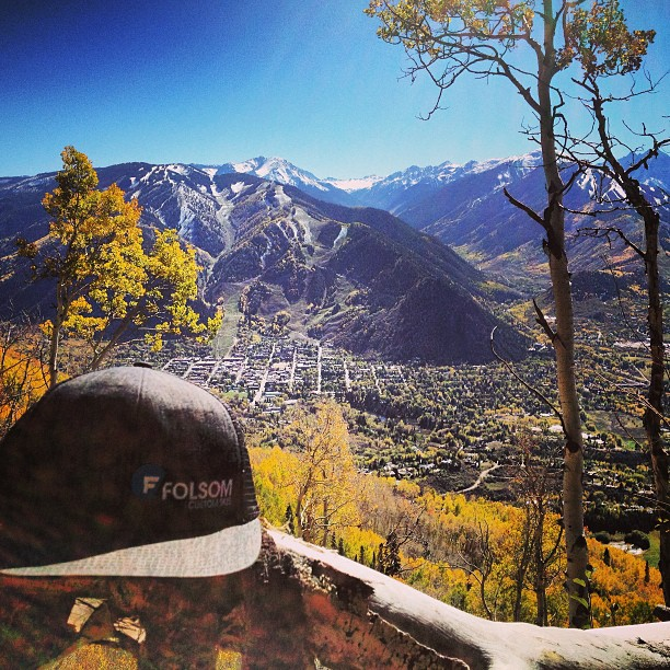 The views from the #sunnyside trail are pretty hard to beat right now. #aspen #fallcolors