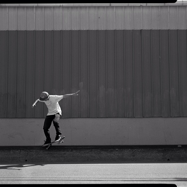 @trevor_denman shot this rad #switchcrook of @nickodem with a #4x5camera in #blackandwhite for #issue32 #steezmagazine #background