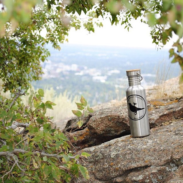 Nice shot of our Stainless Steel Water Bottle    Online now!  PC: @k3nnyl0gsd0n