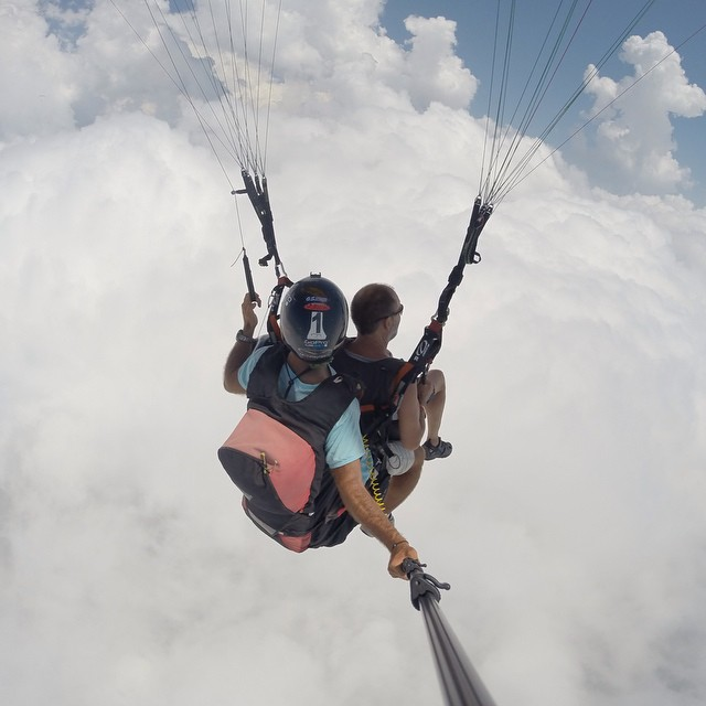 Above the clouds with @yppilot35. #Paragliding