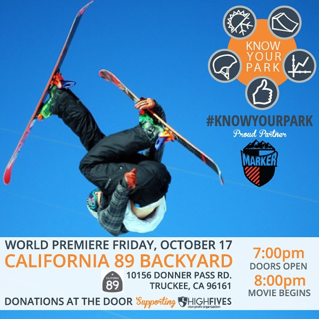 Watch @nickgoepper in the World Premiere of #KnowYourPark, promoting terrain park safety, at @cahwy89 on Oct 17! #donationbased