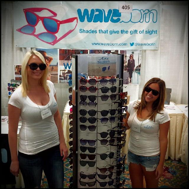 The Waveborn ladies workin the booth ;-) #makinmoves #waveborn #findthesun