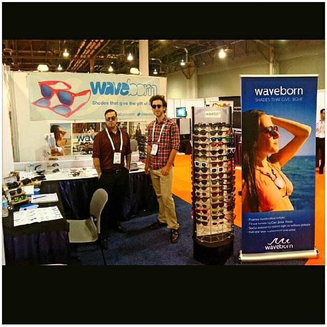 Day 2 at Vision expo west commence! #visionexpo #waveborn