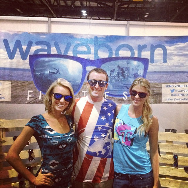Come visit @waveborn and the @bodyglove models at booth 1209 at #surfexpo #findthesun #waveborn