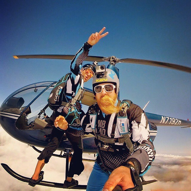 #ThisIsMyBeach | @neilamonson1 & @marshall__miller hop from helicopters testing the new #HERO4 before its release & while sporting the very popular #NorthShore Shades! Where's your beach? #kameleonz #LifesABeach #WheresYourBeach #SkyDiving #Hawaii...
