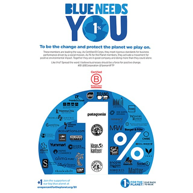 #BlueNeedsYou to be the change and protect the planet we play on! These members are leading the way! #B1 @bcorporation @1percentftp @patagonia @newbelgium @kleankanteen @kingarthurflour @allgoodprovisions @groundsforchangecoffee @mammachia...