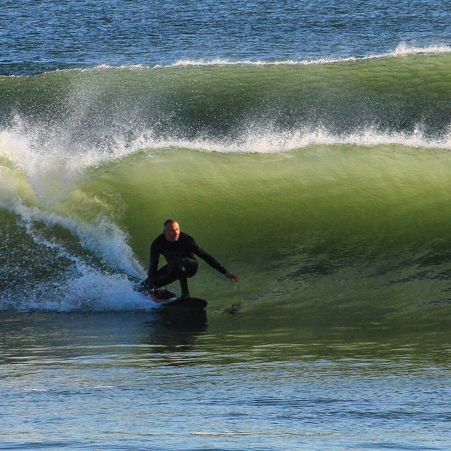 Some fun leftovers yesterday morning (photo by @lynnski93) #coldwatersurf #newengland #surf