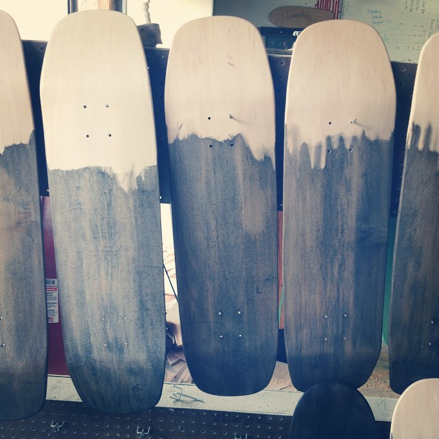 Workin on some decks. Who's ready? #skate #nashville #handmade #handmadeskateboard