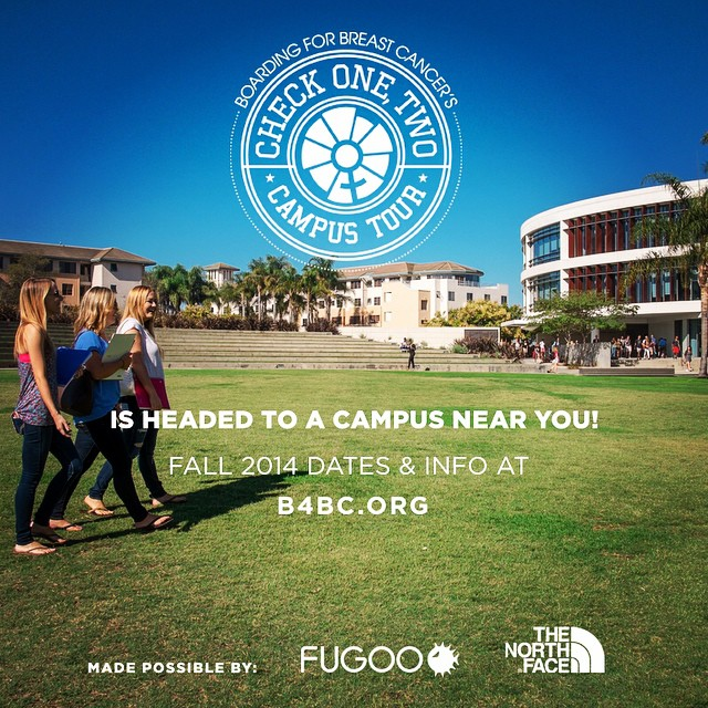 B4BC's Campus Outreach Tour starts TODAY with our first stop at #UCSB!  For the next month B4BC's traveling education booth will be on-site at universities nationwide, teaching college students the importance of early detection and how to...