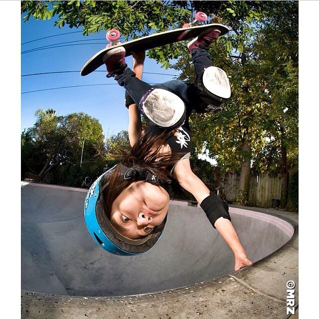 @allyshabergado, the latest entry in the #bigheadskater series by @mrzzz.