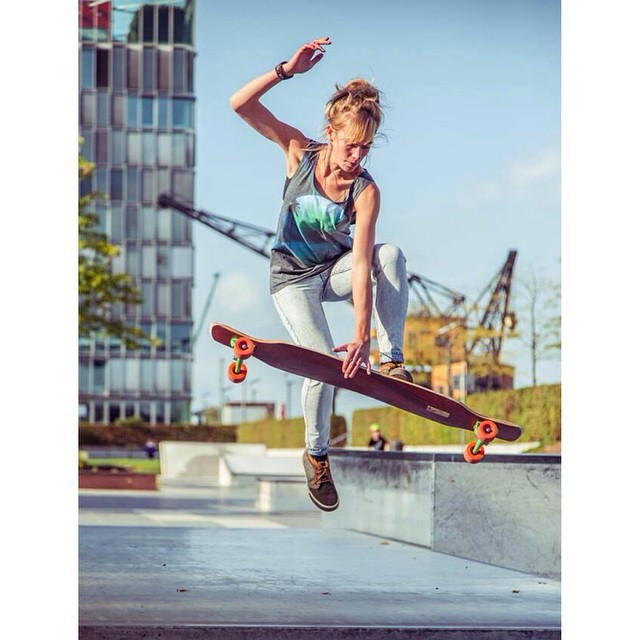 The amazing #longboardgirlscrew Germany rider #DeborahKeser shot by @mari_aprilfool for @girlsinlongboarding. Go Deb!  #girlswhoshred #girlsinlongboarding