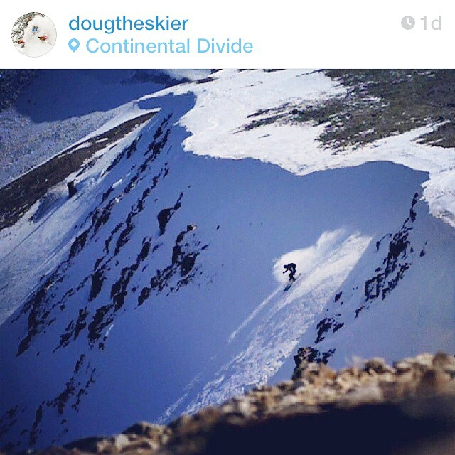 This is happening in Colorado right now, well yesterday. @dougtheskier getting the season started. #embracethestorm