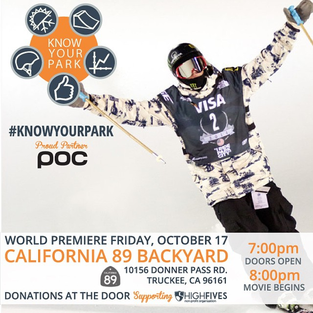 Come one come all! Thank you @pocsports for your support! Join us in watching the World Premiere of #KnowYourPark, promoting park safety at @cahwy89 on Oct 17! #donationbased #helmetsarecool
