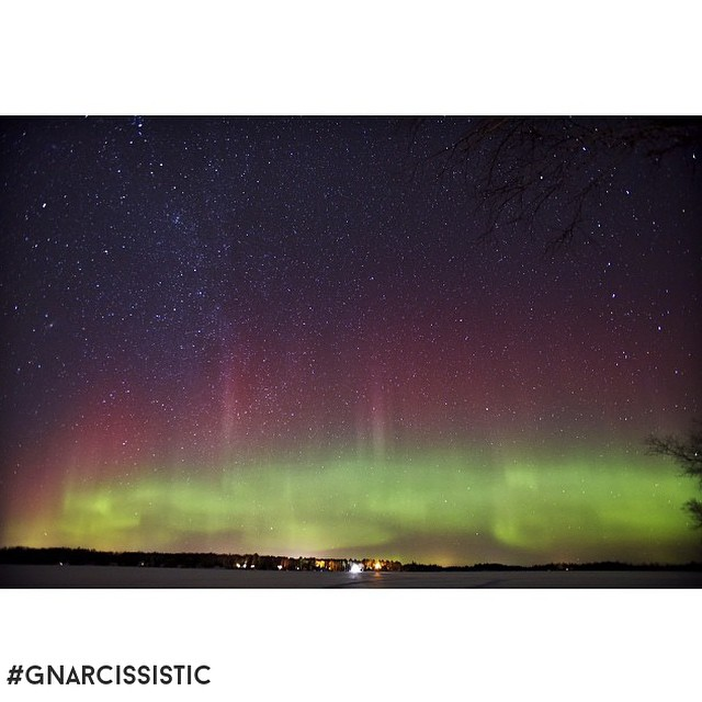 More Night Lights. This one from @bpeterson33 and his #canon6d. #northernlights #GNARCISSISTIC