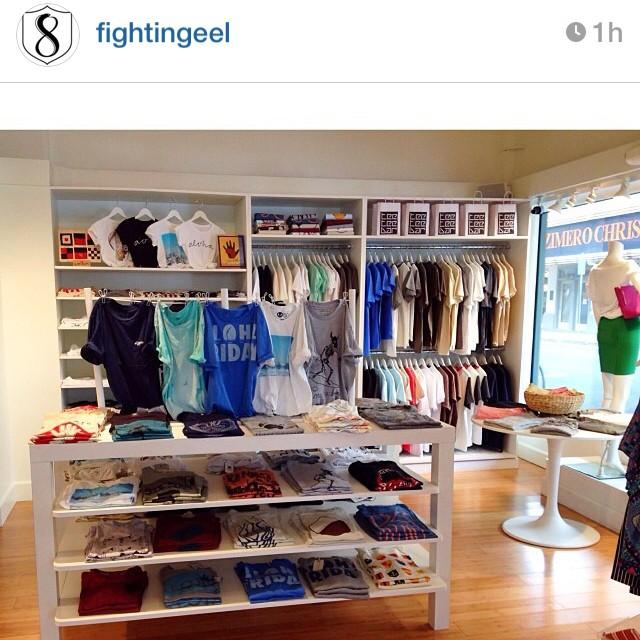 @teeteebarhi #tshirt shop at @fightingeel carries #Organik men's and women's #tees. #regram #repost #firstfriday