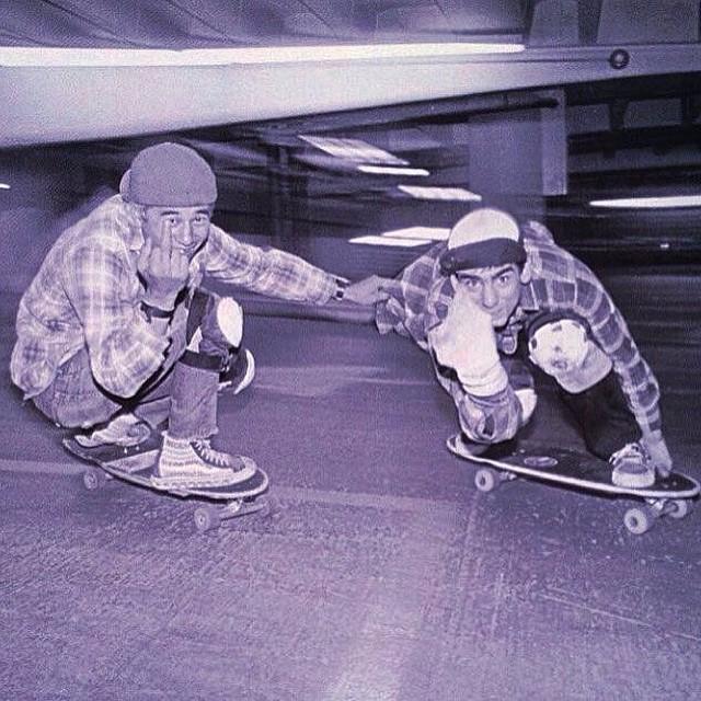 Jóvenes @steviecab y Lance Mountain #skate